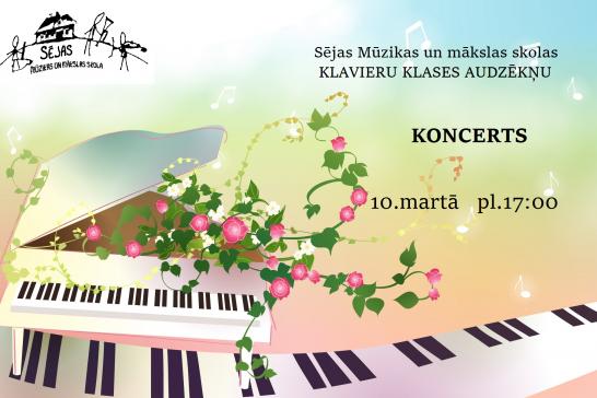 Klavieru klases audzēkņu koncerts